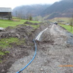 EW, Schmutz- und Trinkwasserleitung im Wiesland